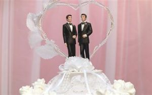 Gay wedding cake topper (Image provided by Jupiter Image)